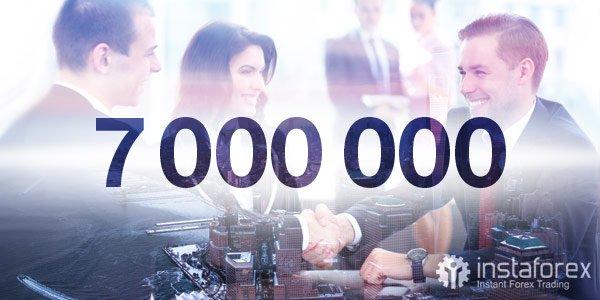 7 000 000 obchodníků z celého světa si vybralo InstaForex